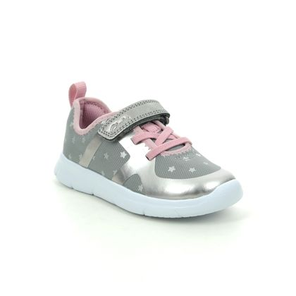 Clarks Girls Trainers - Pewter - 515536F ATH FLUX T