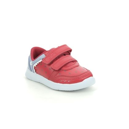Clarks Boys Trainers - Red leather - 570057G ATH SCALE T