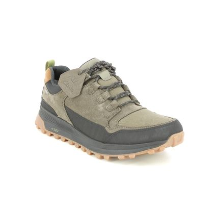 Clarks Walking Shoes - Olive leather - 612027G ATL TREKLO GTX