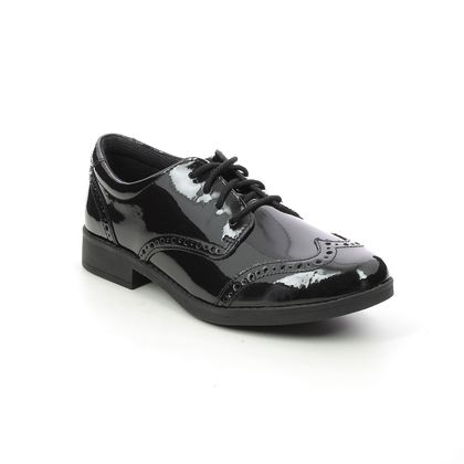 Clarks Girls Shoes - Black patent - 527236F AUBRIE CRAFT Y