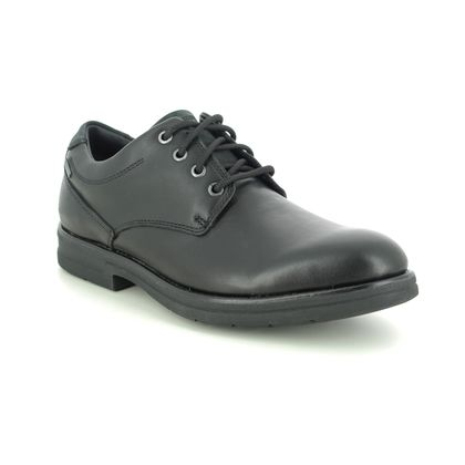 Clarks Smart Shoes - Black leather - 545917G BANNING LO GTX