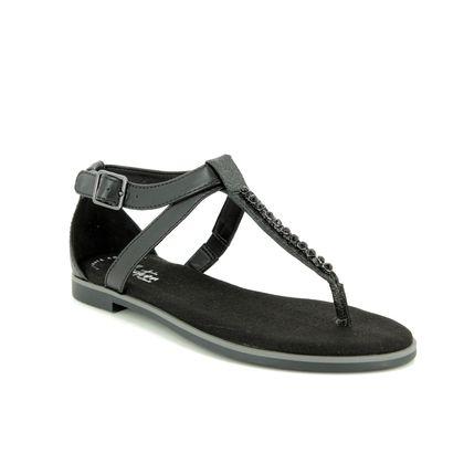 Clarks Flat Sandals - Black - 421634D BAY POPPY