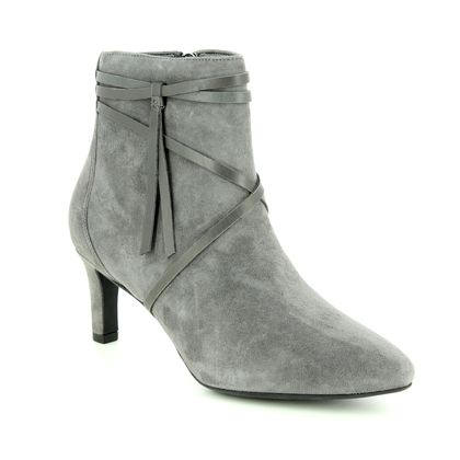 Clarks Fashion Ankle Boots - Grey Suede - 3636/94D CALLA ASTER