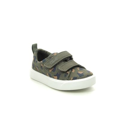 Clarks Boys Trainers - Camouflage - 490986F CITY BRIGHT T
