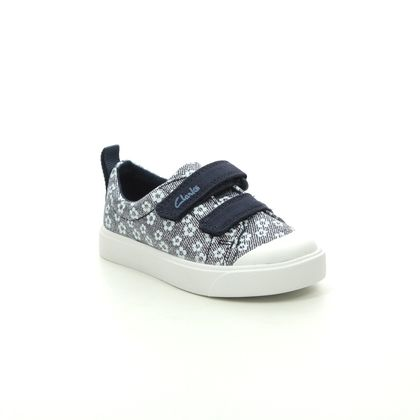 Clarks Girls Trainers - Navy - 490886F CITY BRIGHT T