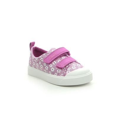 Clarks Girls Trainers - Pink - 490906F CITY BRIGHT T