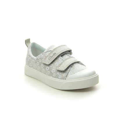 Clarks Girls Trainers - Silver - 490856F CITY BRIGHT T
