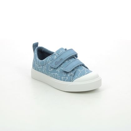 Clarks Boys Trainers - Blue - 567827G CITY BRIGHT T