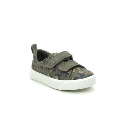 Clarks Boys Trainers - Camouflage - 490987G CITY BRIGHT T