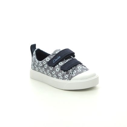 Clarks Girls Trainers - Navy - 490887G CITY BRIGHT T
