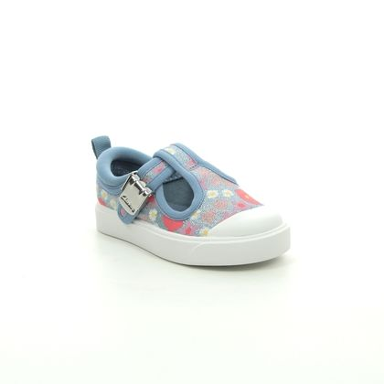 Clarks Girls Trainers - Blue - 564677G CITY DANCE T