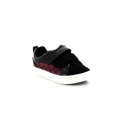 Clarks 1st Shoes & Prewalkers - Black-red combi - 3765/37G CITY HERO LO