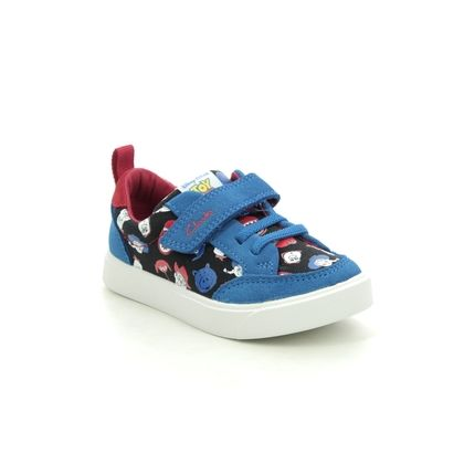 Clarks Boys Trainers - Blue - 527116F CITY HOWDY T