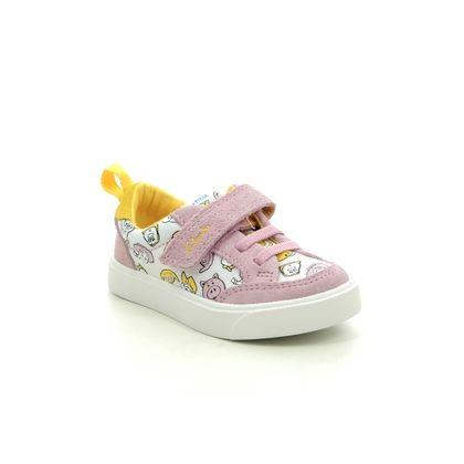 Clarks Girls Trainers - Pink - 527106F CITY HOWDY T