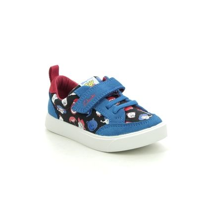 Clarks Boys Trainers - Blue - 527117G CITY HOWDY T