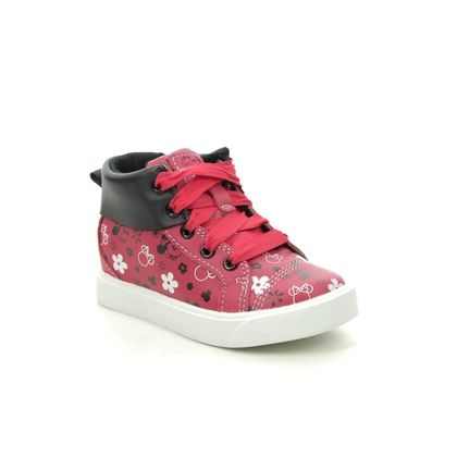 Clarks Girls Trainers - Red - 518596F CITY MOUSE HI