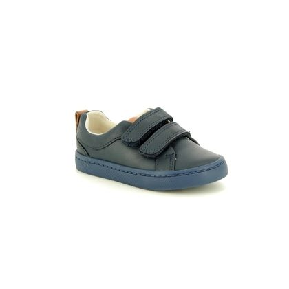 Clarks 1st Shoes & Prewalkers - Navy Leather - 3591/27G CITY OASIS