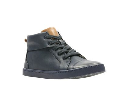 Clarks Boys Shoes - Navy Leather - 3789/06F CITY OASIS HI