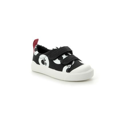 Clarks Girls Trainers - Black - 422696F CITY POLKALO T DISNEY