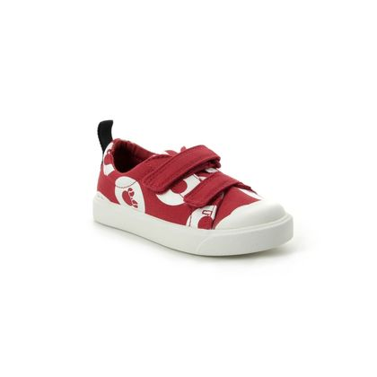 Clarks Girls Trainers - Red multi - 422706F CITY POLKALO T DISNEY