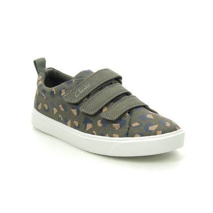 Clarks Boys Trainers - Camouflage - 491256F CITY VIBE K