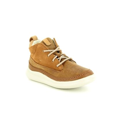 Clarks Boys Shoes - Tan Leather - 3804/66F CLOUD AIR INF