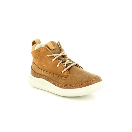 Clarks Boys Shoes - Tan Leather - 3804/67G CLOUD AIR INF