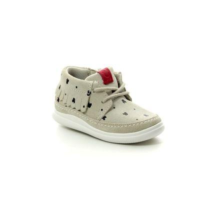 Clarks 1st Shoes & Prewalkers - White - 422736F CLOUD POLKA T DISNEY