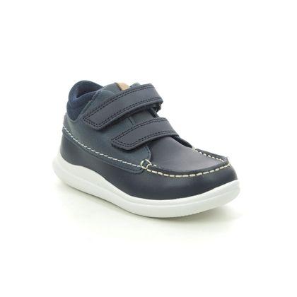 Clarks 1st Shoes & Prewalkers - Navy leather - 448186F CLOUD TUKTU T