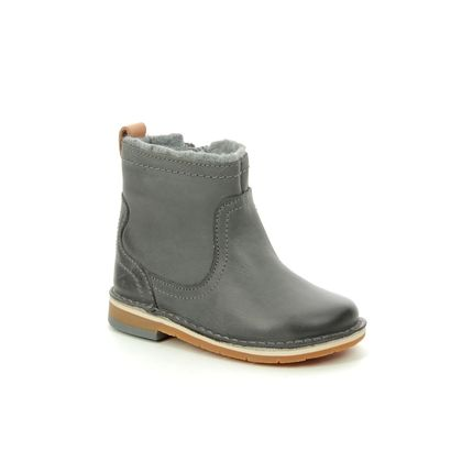 Clarks 1st Shoes & Prewalkers - Grey leather - 3585/96F COMET FROST