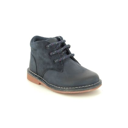 Clarks Boys Boots - Navy Leather - 432666F COMET RADAR T