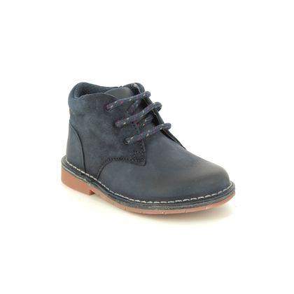 Clarks Boys Boots - Navy Leather - 432667G COMET RADAR T