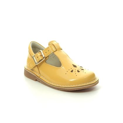 Clarks 1st Shoes & Prewalkers - Yellow Patent - 489876F COMET WEAVE T