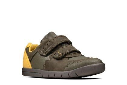 Clarks Boys Shoes - Khaki - 490217G REX QUEST T