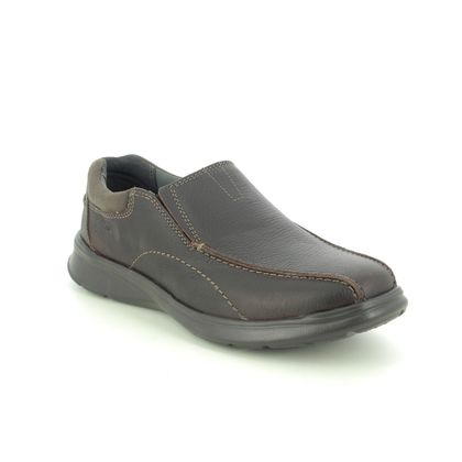 Clarks Slip-on Shoes - Brown leather - 196148H COTRELL STEP