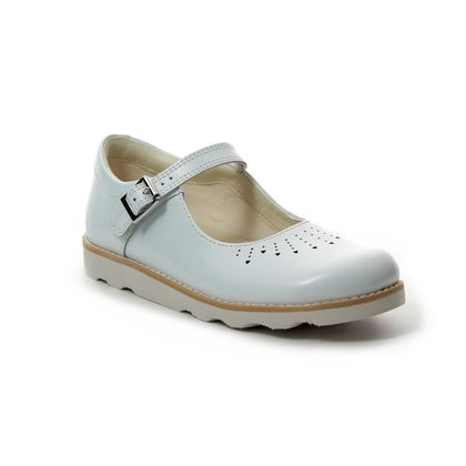 Clarks Girls Shoes - White - 411186F CROWN JUMP K