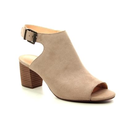 Clarks Heeled Sandals - Sand - 401874D DELORIA GIA