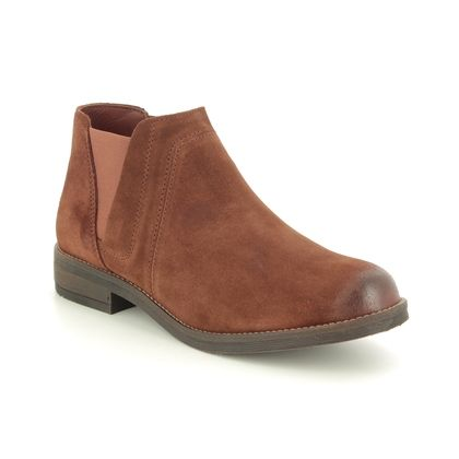 Clarks Chelsea Boots - Tan Suede - 388674D DEMI BEAT