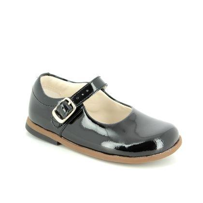 Clarks 1st Shoes & Prewalkers - Black patent - 3587/16F DREW SKY