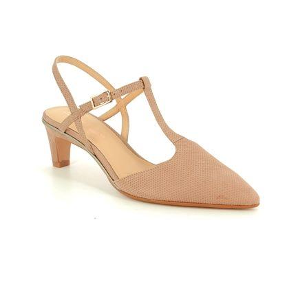 Clarks Heeled Sandals - Nude nubuck - 420974D ELLIS LOLA