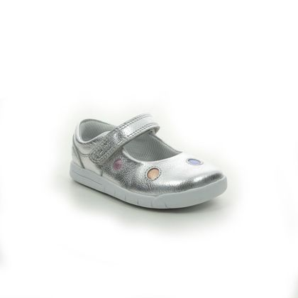 Clarks 1st Shoes & Prewalkers - Silver Leather - 566456F EMERY DOT T