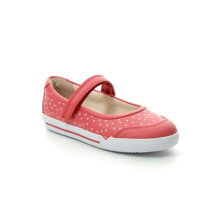 Clarks Girls Shoes - Coral - 411566F EMERY HALO K