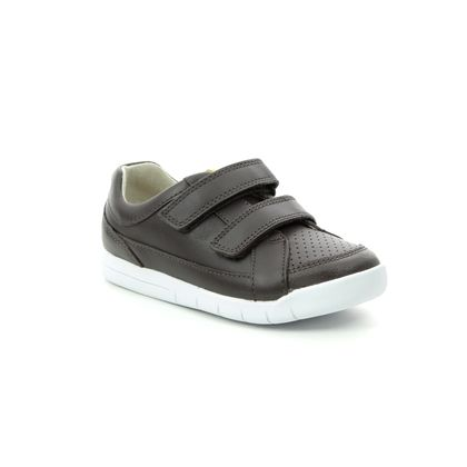 Clarks Boys Trainers - Brown leather - 411577G EMERY WALK T