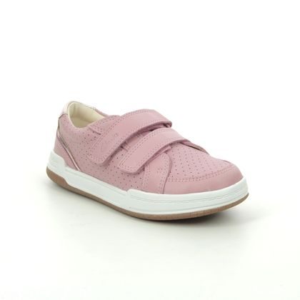 Clarks Girls Shoes - Pink Leather - 589756F FAWN SOLO K