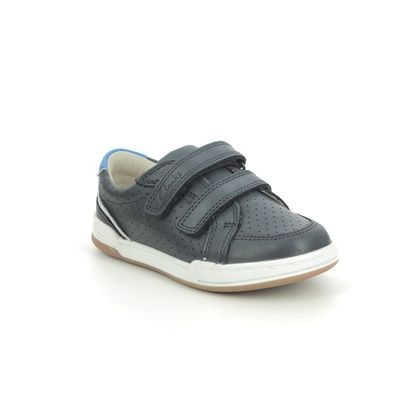 Clarks Boys Shoes - Navy Leather - 589886F FAWN SOLO T