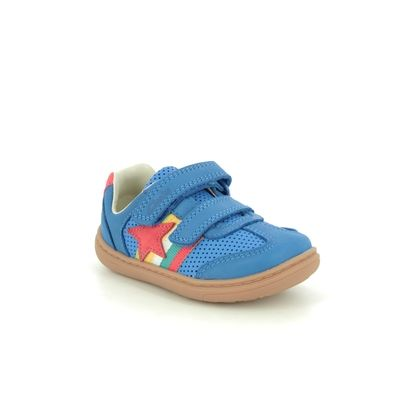 Clarks Boys Shoes - BLUE LEATHER - 515007G FLASH HOT T