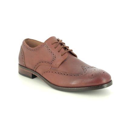 Clarks Brogues - Tan Leather - 482387G FLOW LIMIT