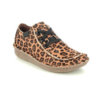 Clarks Comfort Lacing Shoes - Leopard print - 515294D FUNNY DREAM