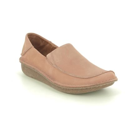 Clarks Comfort Slip On Shoes - Pink Nubuck - 475864D FUNNY GO