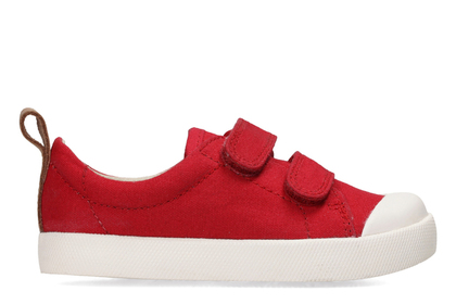 Clarks 1st Shoes & Prewalkers - Red - 3311/67G HALCY HIGH